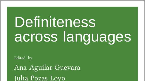 Definiteness across languages