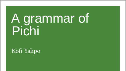 A grammar of Pichi